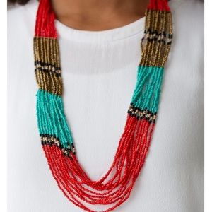 Paparazzi Rio Roamer Red Seed Bead Long Necklace